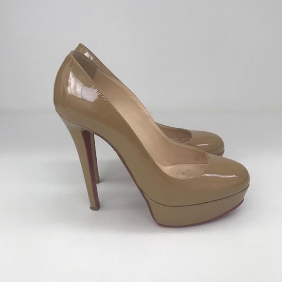 christian louboutin shoes bianca patent camel size 355 poshmark rh poshmark com